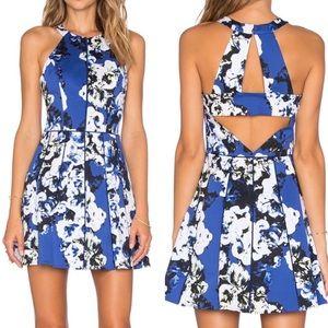 Parker Phillip Devon Floral Cutout Mini Dress